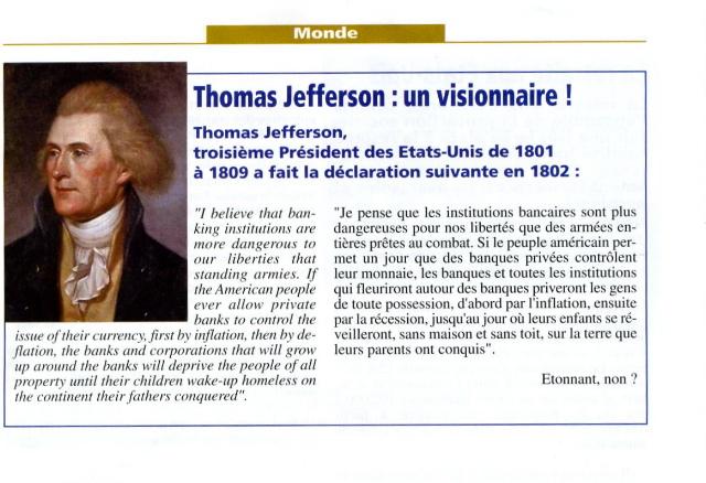 Thomas Jefferson : un visionaire !